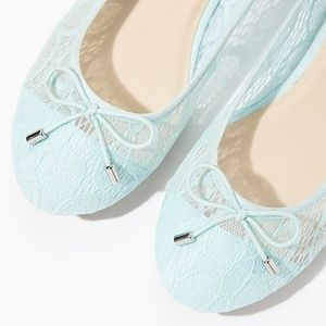 Forever 21 Blue Lace Flats